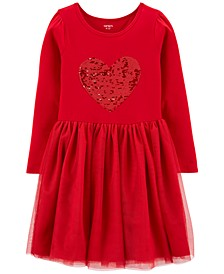 Little & Big Girls Flip-Sequin Tutu Dress