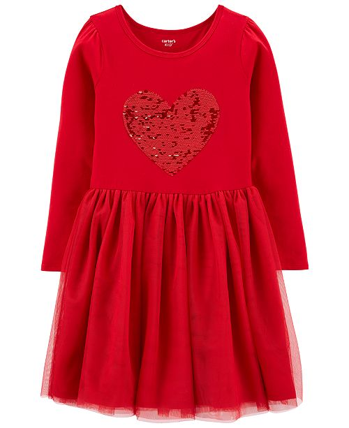Carter's Little & Big Girls Flip-Sequin Tutu Dress