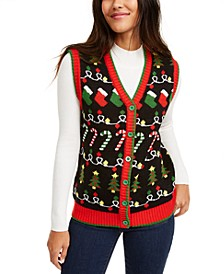 Juniors' Holiday Sweater Vest