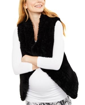 Maternity Faux-Fur Vest