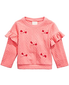 Baby Girls Bow Appliqué Sweatshirt, Created For Macy's