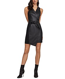Layla Faux-Leather Sheath Dress
