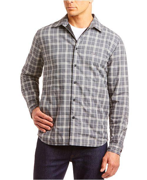 Lacoste Men's Soft Flannel Plaid Shirt