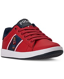 Polo Ralph Lauren Little Boys Quilton Bear Casual Sneakers from Finish Line