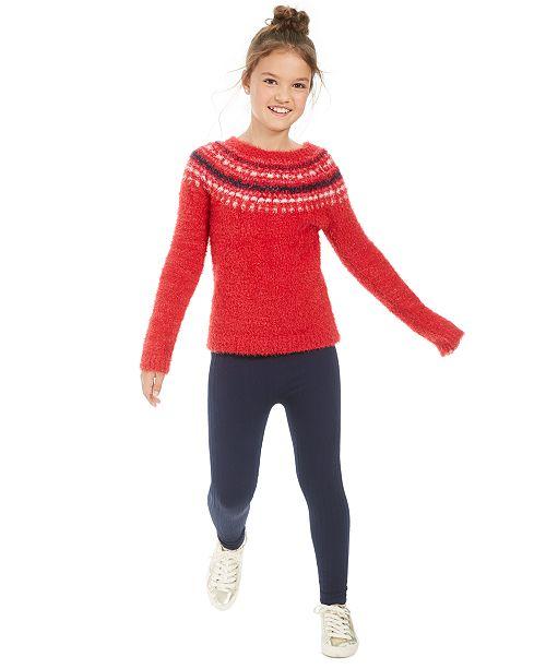 Epic Threads Big Girls Fair Isle Sweater & Leggings, Created For Macy's