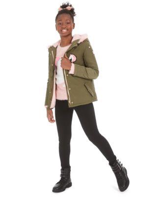 Big Girls Unicorn Patch Jacket, Created For Macy's