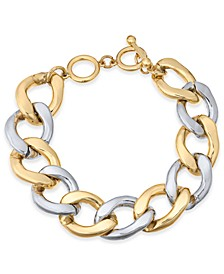 Two-Tone Large Chain-Link Bracelet, Created For Macy's
