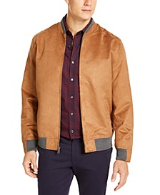 Men's Faux Suede Bomber Jacket, Created for Macy's