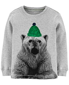 Toddler Boys Cotton Thermal Polar Bear T-Shirt