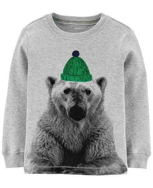 Carter's Toddler Boys Cotton Thermal Polar Bear T-Shirt