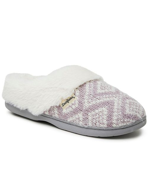 Dearfoams Women's Oversized Fairisle Clog Slippers, Online Only
