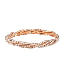 Rose Tone 5 Row Crystal Stretchy Bracelet