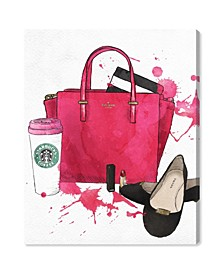 Bags Shoes and Coffee Canvas Art Collection