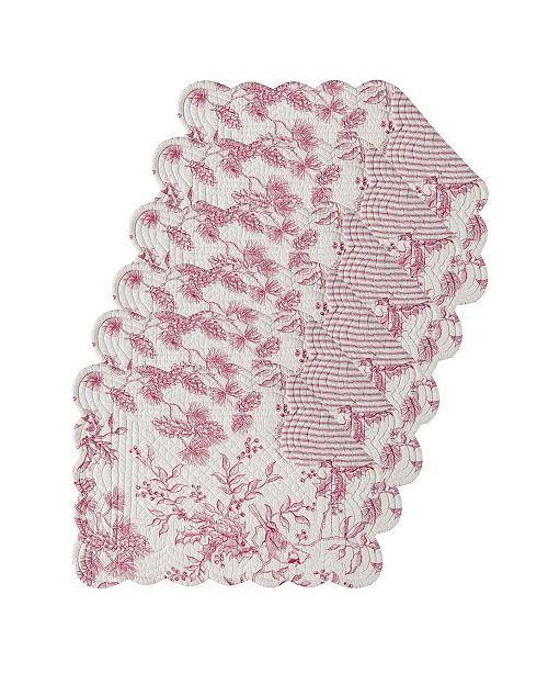 C&F Home Evergreen Toile Placemat, Set of 6