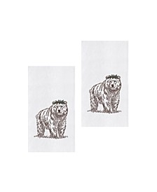 Holly Bear Kitchen Towel, Set of 2