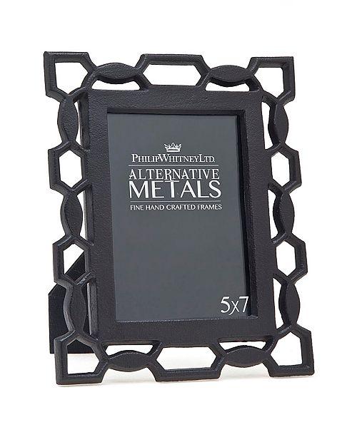 "Philip Whitney Pierced Black Iron Frame - 5""x 7"""