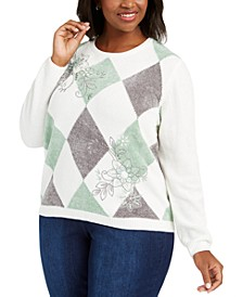 Plus Size Lake Geneva Diamond Chenille Sweater