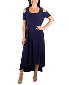 Cold Shoulder High-Low Maxi Dress
