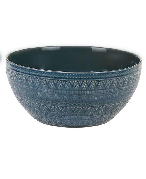 Certified International Aztec Teal Deep Bowl