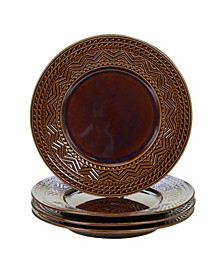 Aztec Brown 4-Pc. Dinner Plates