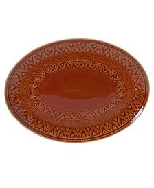 Aztec Rust Oval Platter