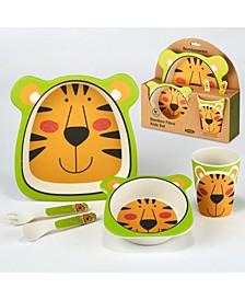 Tiger Eco Friendly Bamboo Fiber 5-Pc. Kids Dinnerware Set