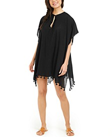 Pom Pom Caftan Swim Cover-Up