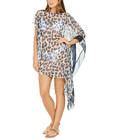 Printed Asymmetric Caftan Cover-Up