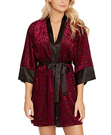 Jacquard Velvet Chemise Nightgown & Wrap 2pc Set