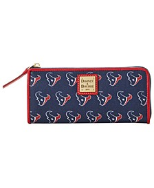 Houston Texans Saffiano Zip Clutch
