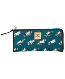 Philadelphia Eagles Saffiano Zip Clutch