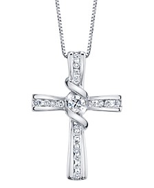 Diamond (1/3 ct. t.w.) Cross Pendant in 14k White Gold
