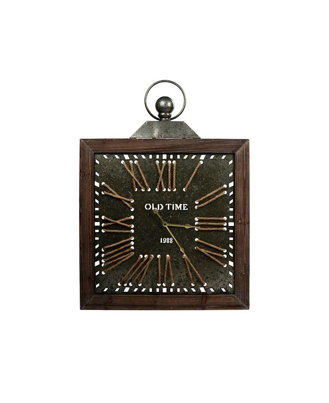 Peterson Artwares Antique Epoch Metal Wall Clock