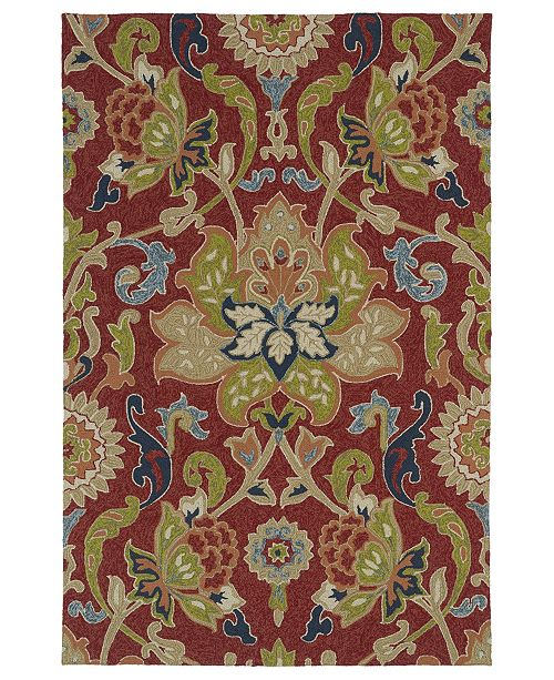 Kaleen Home and Porch 2042-25 Red Area Rug Collection