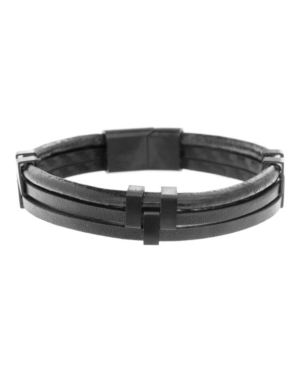 Ben Sherman Leather Tripled Stranded Men's Bracelet