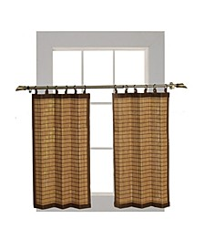 Home Fashions Bamboo Wood Ring Top Tier Set