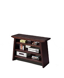 Wooden TV Stand with Storage Spaces
