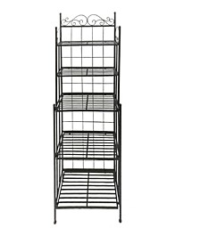 Five Tier Storage Metal Bakers Rack