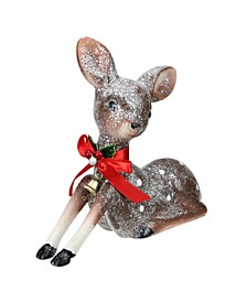 Spotted Glitter Reindeer Table Top Christmas Decoration