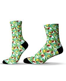 Unisex Tropical Fruit Pattern Crew Socks