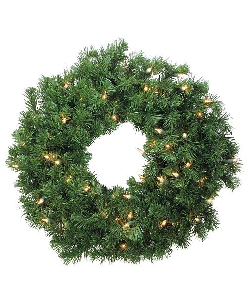 Northlight Deluxe Windsor Pine Artificial Christmas Wreath - 24-Inch Clear Lights