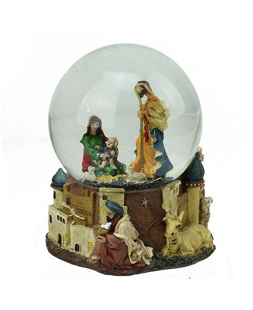 Northlight  Nativity Scene Religious Musical Christmas Snow Globe