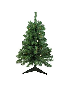 3' Pre-Lit Traditional Noble Fir Artificial Christmas Tree - Clear Lights