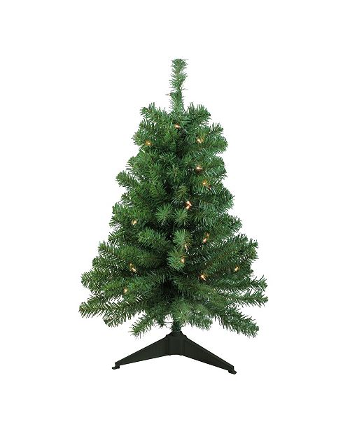 Northlight 3' Pre-Lit Traditional Noble Fir Artificial Christmas Tree - Clear Lights
