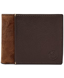 Men's Ward Colorblocked Flip ID Leather Wallet