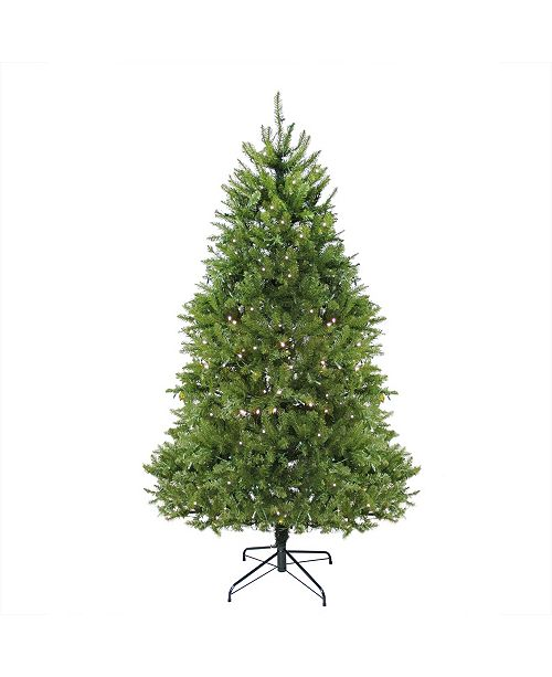 Northlight 6.5' Pre-Lit Northern Pine Full Artificial Christmas Tree - Warm Clear LED Lights