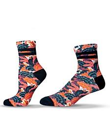 Unisex Tropical Flower Colorful Quarter Socks