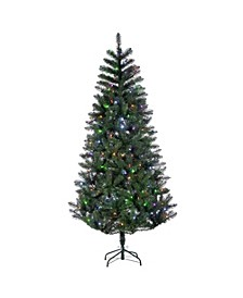 7.5-Foot High Pre-Lit Idaho Pine with Color-Changing LED Lights and Remote Control Feature