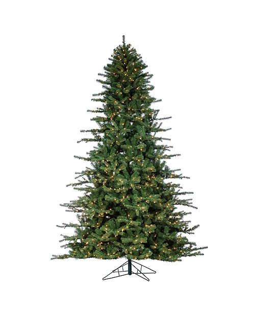 Sterling 9-Foot High Layered Norfolk Pine Pre-Lit Tree with Clear White Lights
