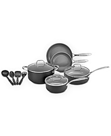 12-Pc. Gray Nonstick Ceramic Cookware Set